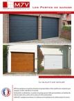 Les portes de garage sectionnelles et basculantes